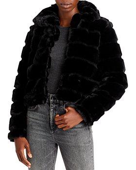 BLANKNYC - Cropped Faux Fur Jacket