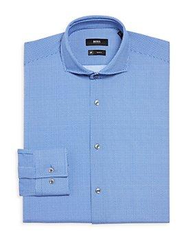 BOSS - Jason Micro Performance Stretch Solid Slim Fit Dress Shirt