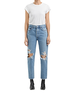 Agolde Fen High Rise Relaxed Jeans in Wander