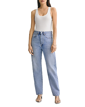 Agolde 90's High Rise Straight Leg Jeans in Snapshot
