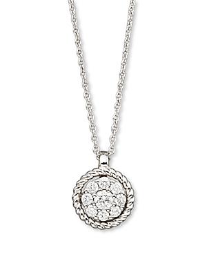Diamond Cluster Pendant Set In 14K White Gold, 0.20 ct. t.w. - 100% Exclusive