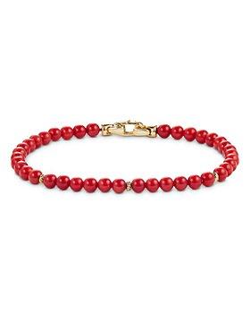 David Yurman - 14K Yellow Gold Spiritual Beads Bracelet with Dyed Sea Bamboo