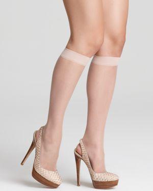 Donna Karan Hosiery Nude Knee Highs