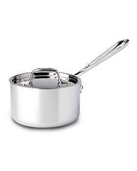 All-Clad - Stainless Steel 1.5 Quart Sauce Pan with Lid