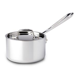 All Clad Stainless Steel 1.5 Quart Sauce Pan with Lid