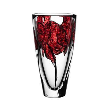 Kosta Boda - Tattoo Vase, Red