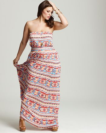 Rachel Pally White Label Plus Size Talmadge Strapless Maxi ...
