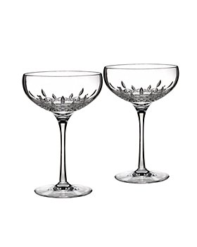 Waterford - Lismore Essence Collector's Boxed Saucer Champagne Glass, Set of 2