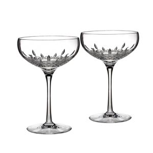 Waterford Lismore Essence Collector's Boxed Saucer Champagne Glass, Set of 2