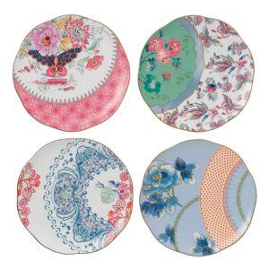 Wedgwood Butterfly Bloom Tidbit Plates, Set of 4