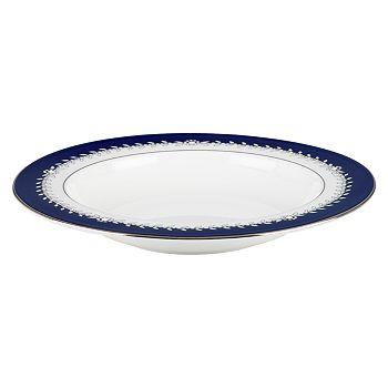"Marchesa by Lenox - Empire Pearl 9"" Pasta Bowl/Rim Soup"