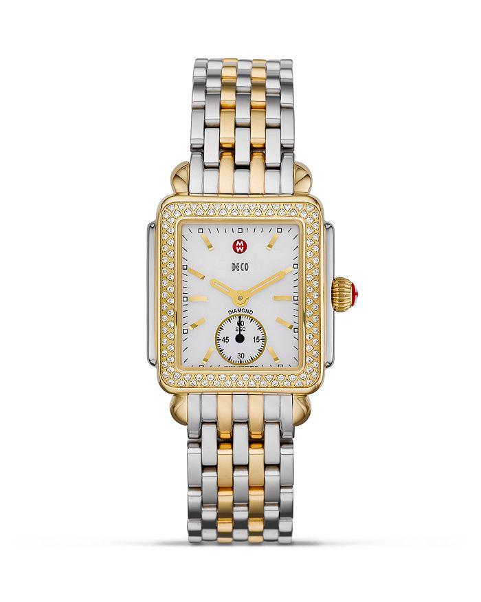 MICHELE - Deco Diamond Two Tone Watch, 16mm