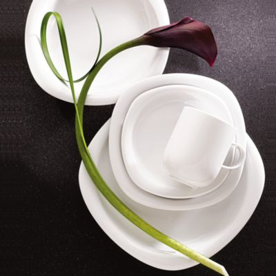Suomi White Large Open Vegetable Bowl