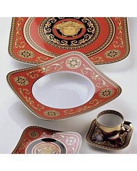 "Versace - Medusa Red Service Plate, 12"""