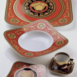 Rosenthal Meets Versace Medusa Red Canape Plate