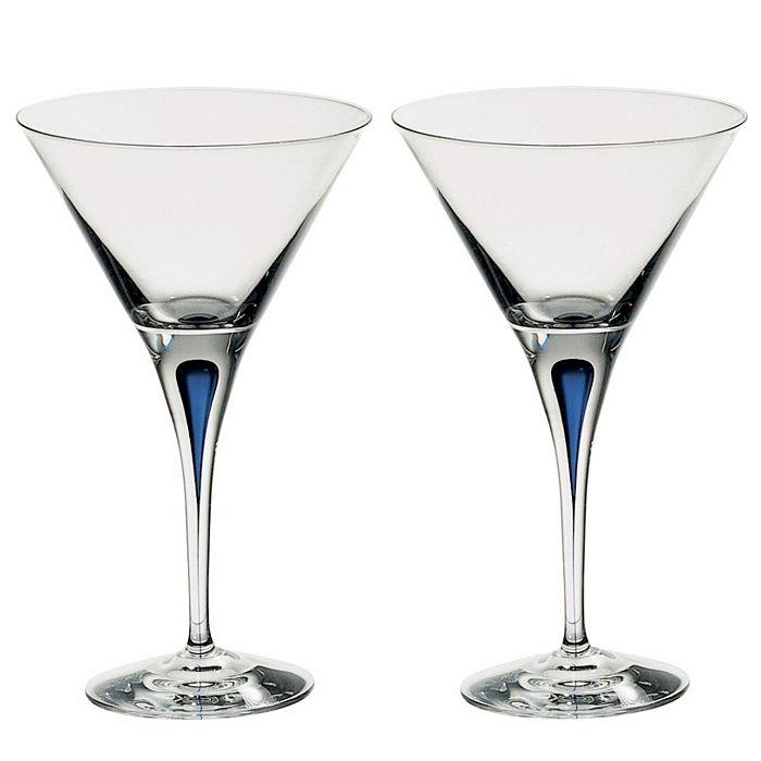 Orrefors - Intermezzo Blue Set of 2 Martini Glasses