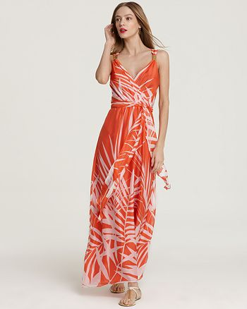 MILLY - Samantha Palm Print Maxi Dress
