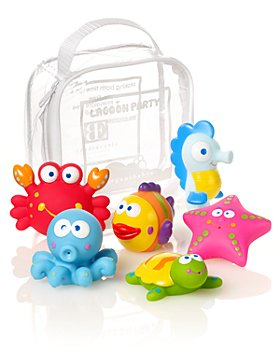 Elegant Baby - Lagoon Party Squirties Bath Toys - Ages 6 Months+