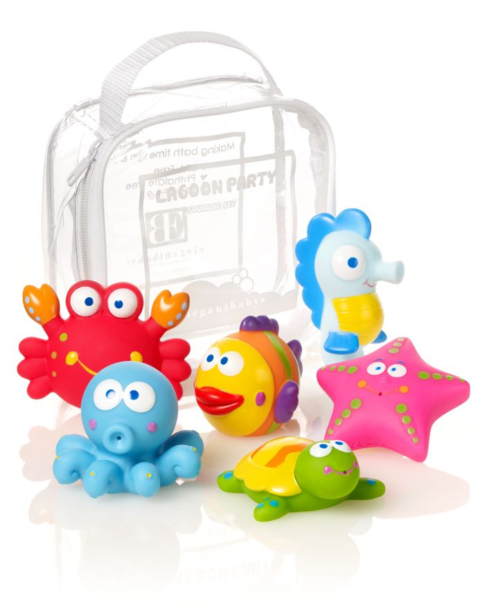 Elegant Baby Lagoon Party Squirties Bath Toys - Ages 6 Months+  | Bloomingdale's