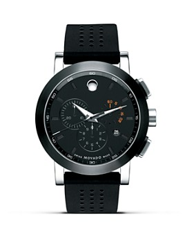 """Movado - """"Museum®"""" Sport Stainless Steel Chronograph Watch, 44mm"""
