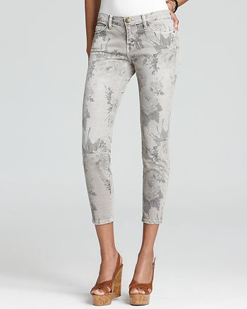 Current/Elliott - The Stiletto Jeans in Grey Floral