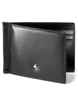Montblanc Meisterstuck 6cc Leather Wallet with Money Clip thumbnail