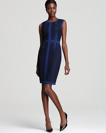 BCBGMAXAZRIA - Kaylise Color Block Dress with Piping