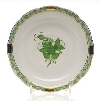 Herend - Chinese Bouquet Tea Saucer, Green