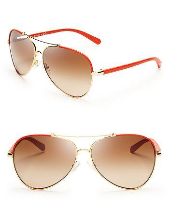 Tory Burch - Women's Signature Aviator Sunglasses