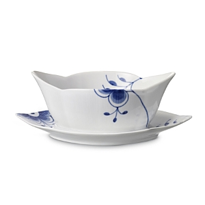 Royal Copenhagen Blue Fluted Mega Sauce Boat, 9