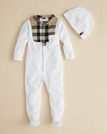 Burberry Infant Boys  Leslie Footie   Hat - Sizes 0-12 Months ... 8ffcf4820a4