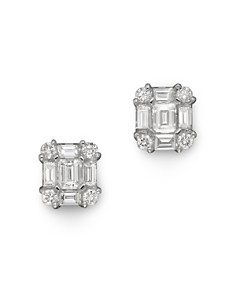 Diamond Emerald-Cut Earrings in 14K White Gold, .85 ct.tw. - 100% Exclusive - Bloomingdale's_0