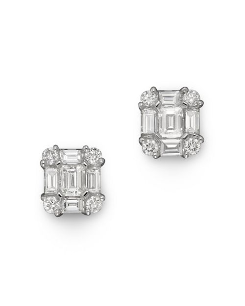Bloomingdale's - Diamond Earrings in 14K White Gold, .85 ct. t.w.- 100% Exclusive