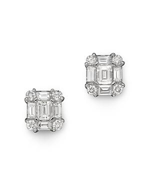Diamond Emerald-Cut Earrings in 14K White Gold, .85 ct. tw. - 100% Exclusive