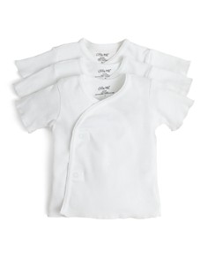 Little Me - Unisex Side-Snap Shirt, 3 Pack - Baby