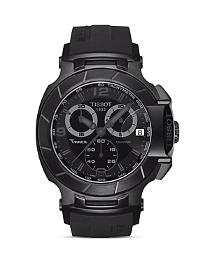 Tissot T-Race Men's Black Quartz Chronograph Sport Watch, 50mm