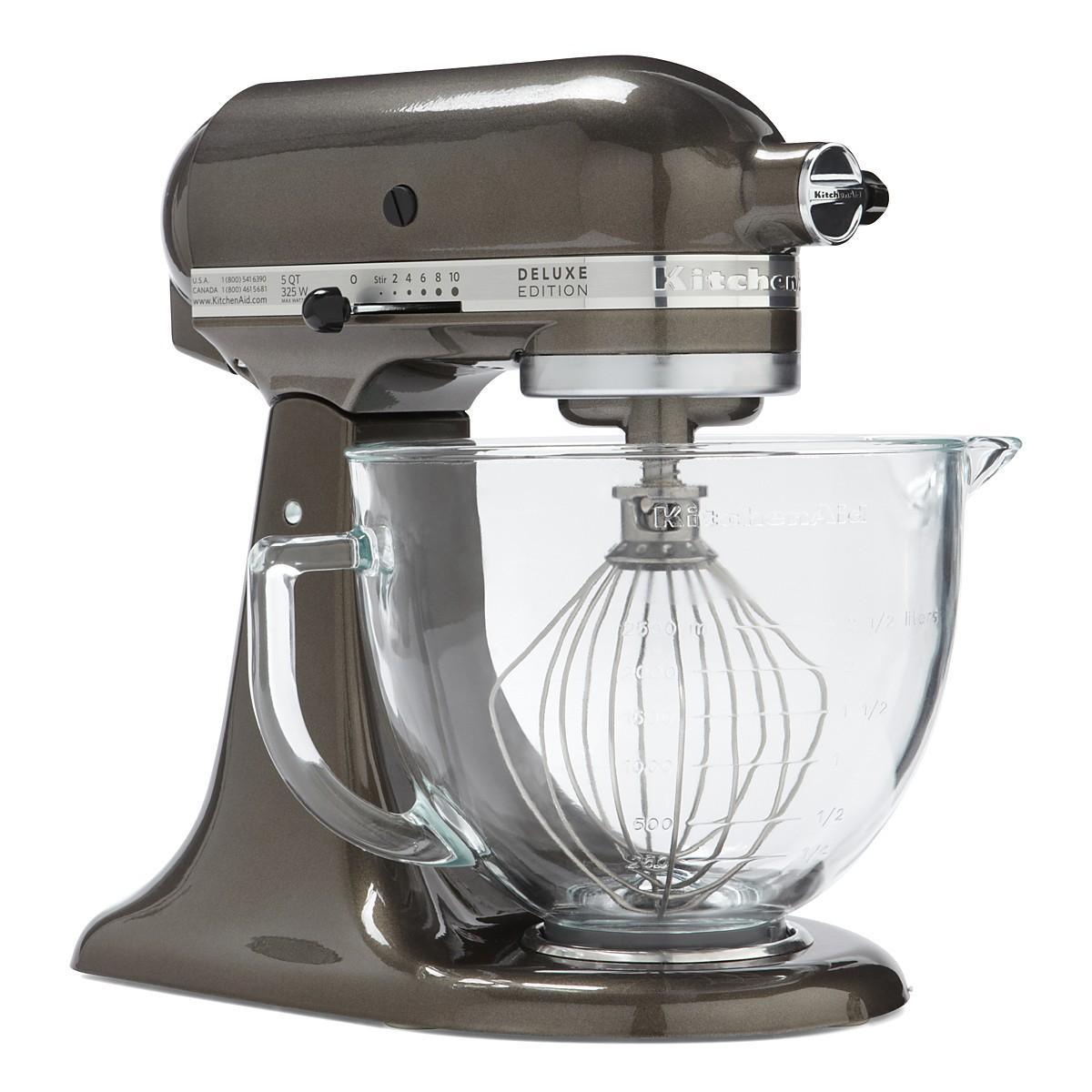 KitchenAid Artisan Design 5-Quart Stand Mixer with Glass Bowl ...