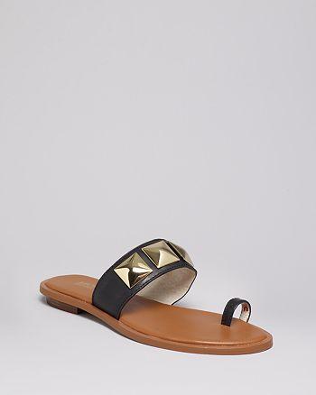 MICHAEL Michael Kors - Studded Flat Sandals - Persia