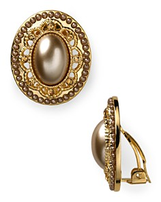 Carolee Oval Button Clip-On Earrings - Bloomingdale's_0