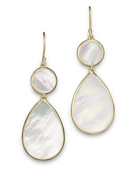 IPPOLITA - Ippolita 18K Gold Polished Rock Candy 2 Drop Earrings in Mother-of-Pearl