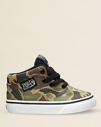 Vans Boys' High top Camouflage Sneakers Walker, Toddler