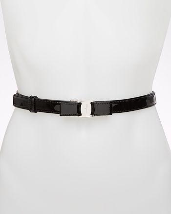 Salvatore Ferragamo - Patent Bow Belt