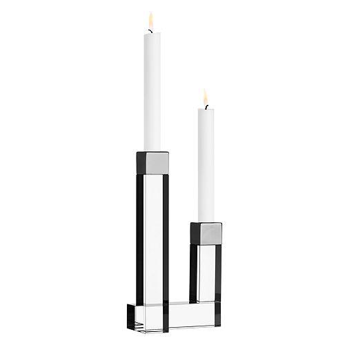 Orrefors - Chimney Two-Arm Candleholder