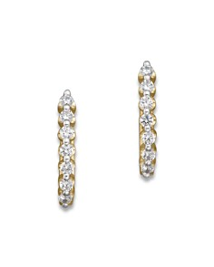 Diamond Huggie Hoops in 14K Yellow Gold, .50 ct. t.w. - 100% Exclusive - Bloomingdale's_0
