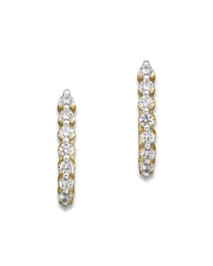 Diamond Huggie Hoops in 14K Yellow Gold, .50 ct. t.w. - 100% Exclusive