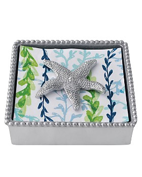 Mariposa - Starfish Beaded Napkin Box