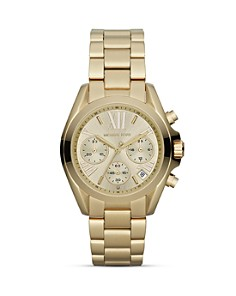Michael Kors Mini Bradshaw Chronograph Watch in Gold, 35mm - Bloomingdale's_0