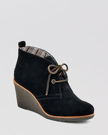 Sperry - Lace Up Platform Wedge Booties - Harlow