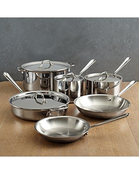 All-Clad - D3 Stainless Steel 3-Ply Bonded 10-Piece Cookware Set