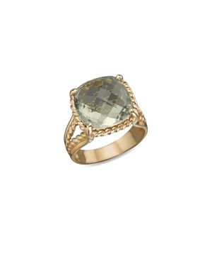 14K Yellow Gold Prasiolite Ring - 100% Exclusive